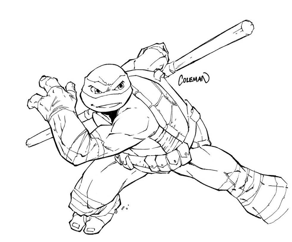 Großartig Ninja Turtle Malvorlagen Donatello Bilder - Beispiel ...