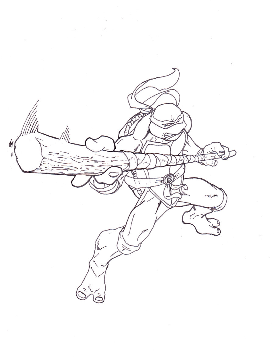 900x1171 Tmnt Donatello By Shinmusashi44 Lineart Tmnt Tmnt
