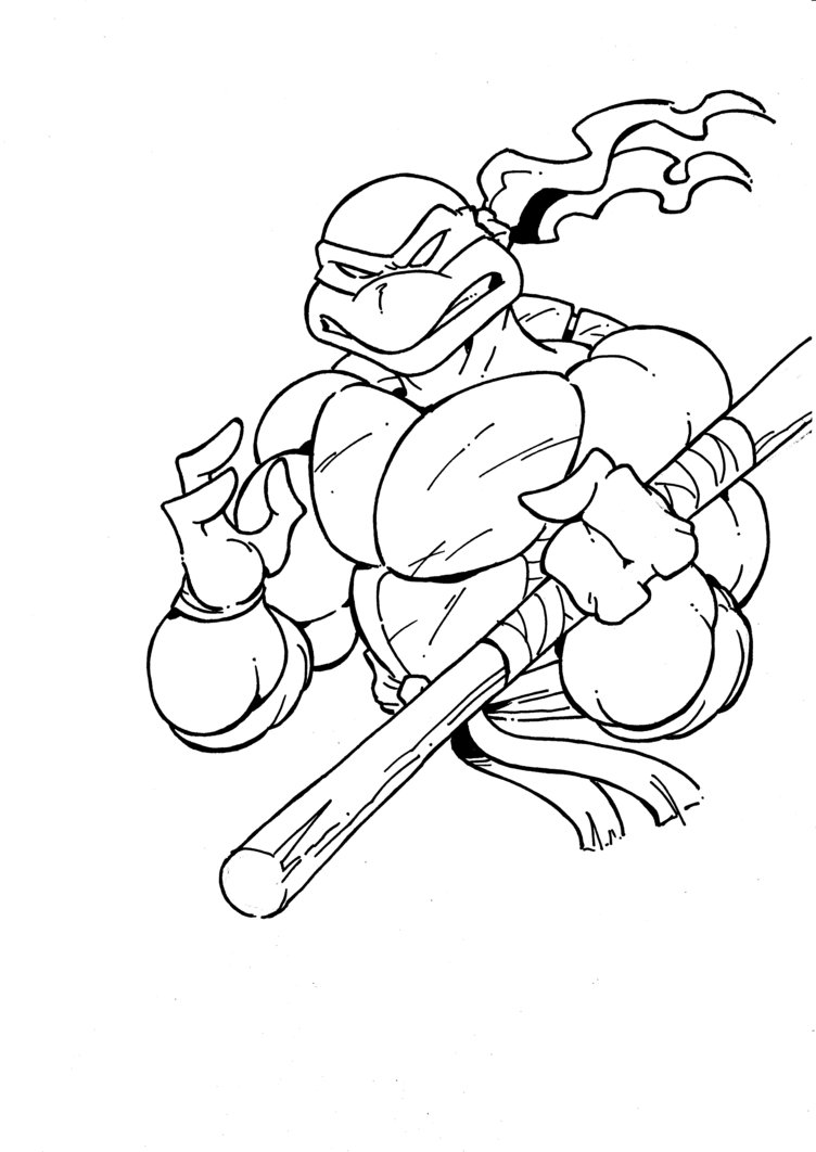 Line Art Ninja Turtles : Donatello drawing at getdrawings free for personal