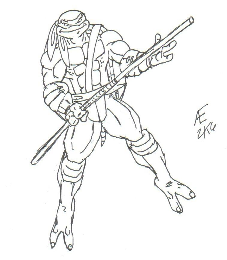758x867 Donatello, The Ninja Turtle By King Taurus