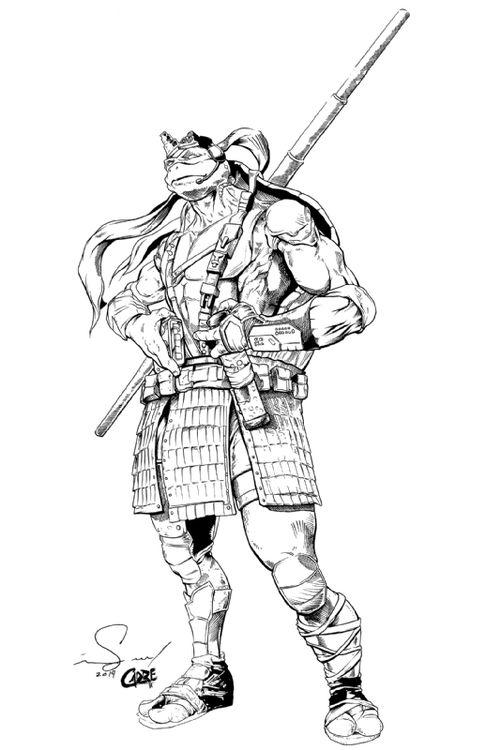 Donatello Ninja Turtle Drawing
