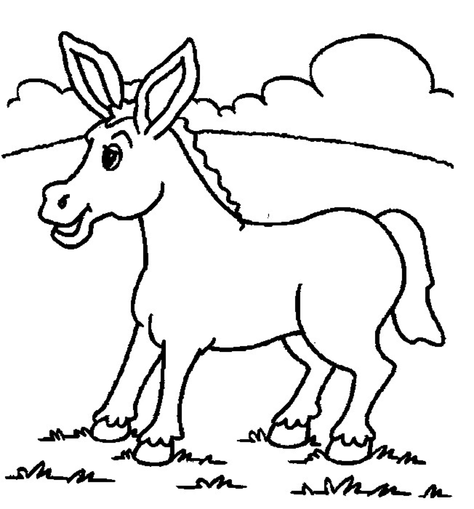 Donkey Drawing at GetDrawings.com | Free for personal use Donkey ...
