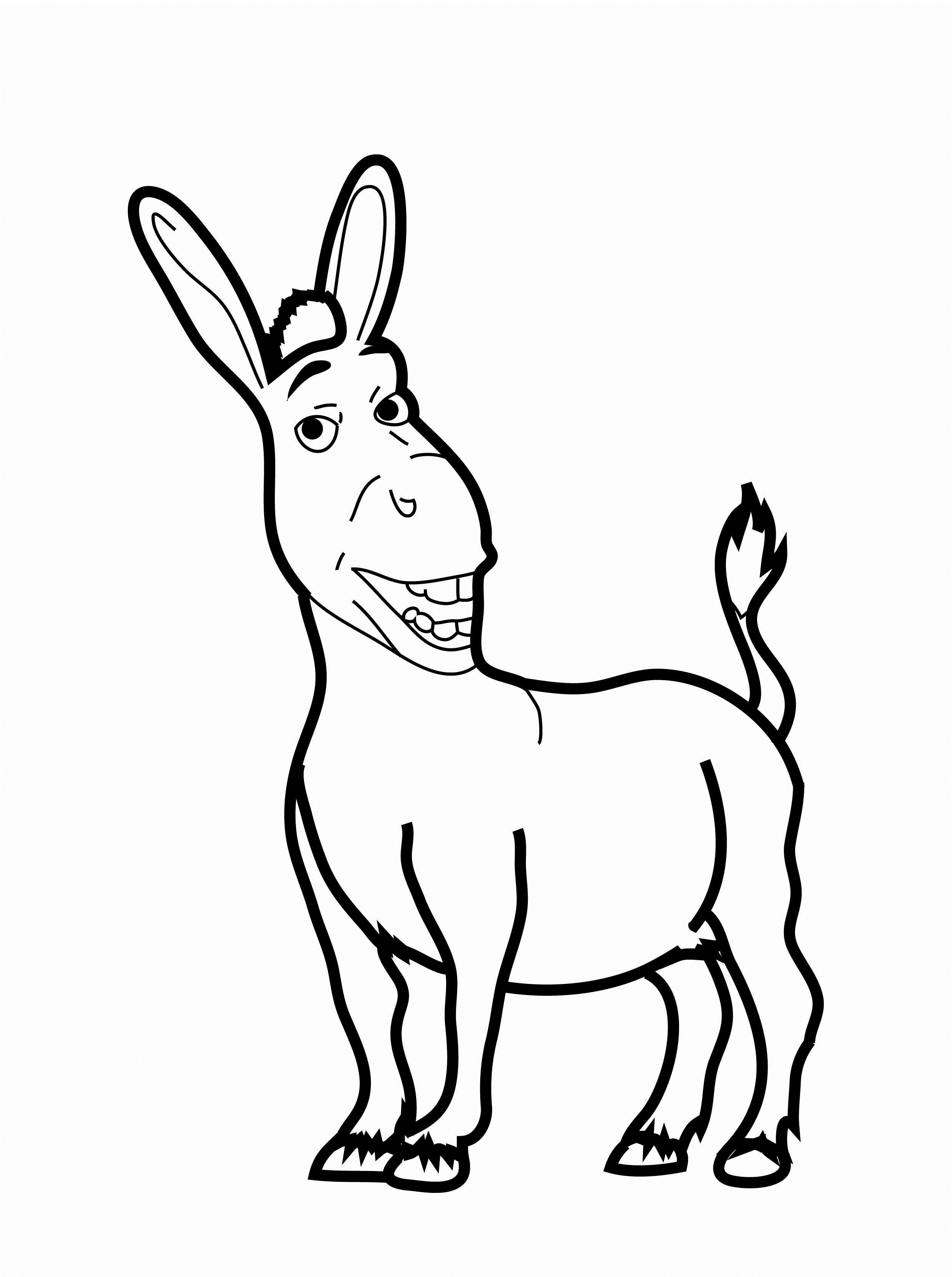 Donkey Drawing Easy at GetDrawings.com | Free for personal use ...