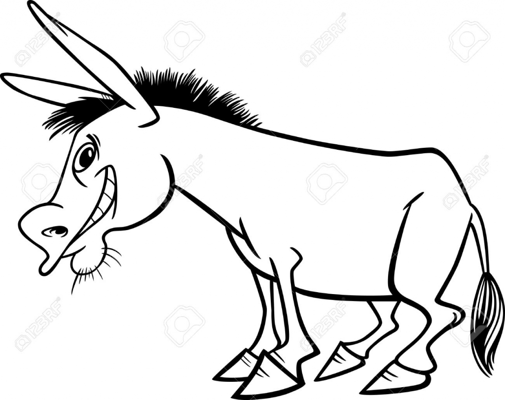 Donkey Drawing Outline At GetDrawings.com