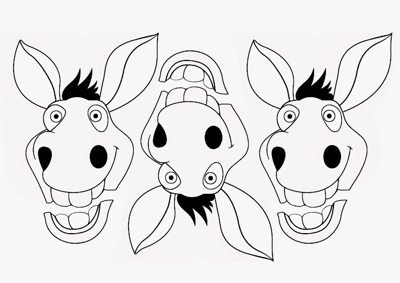 Donkey Face Drawing at GetDrawings.com | Free for personal use ...