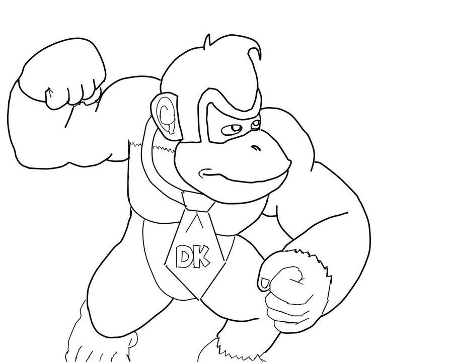900x720 Donkey Kong (Inked) By Michaelanthonyhalljr