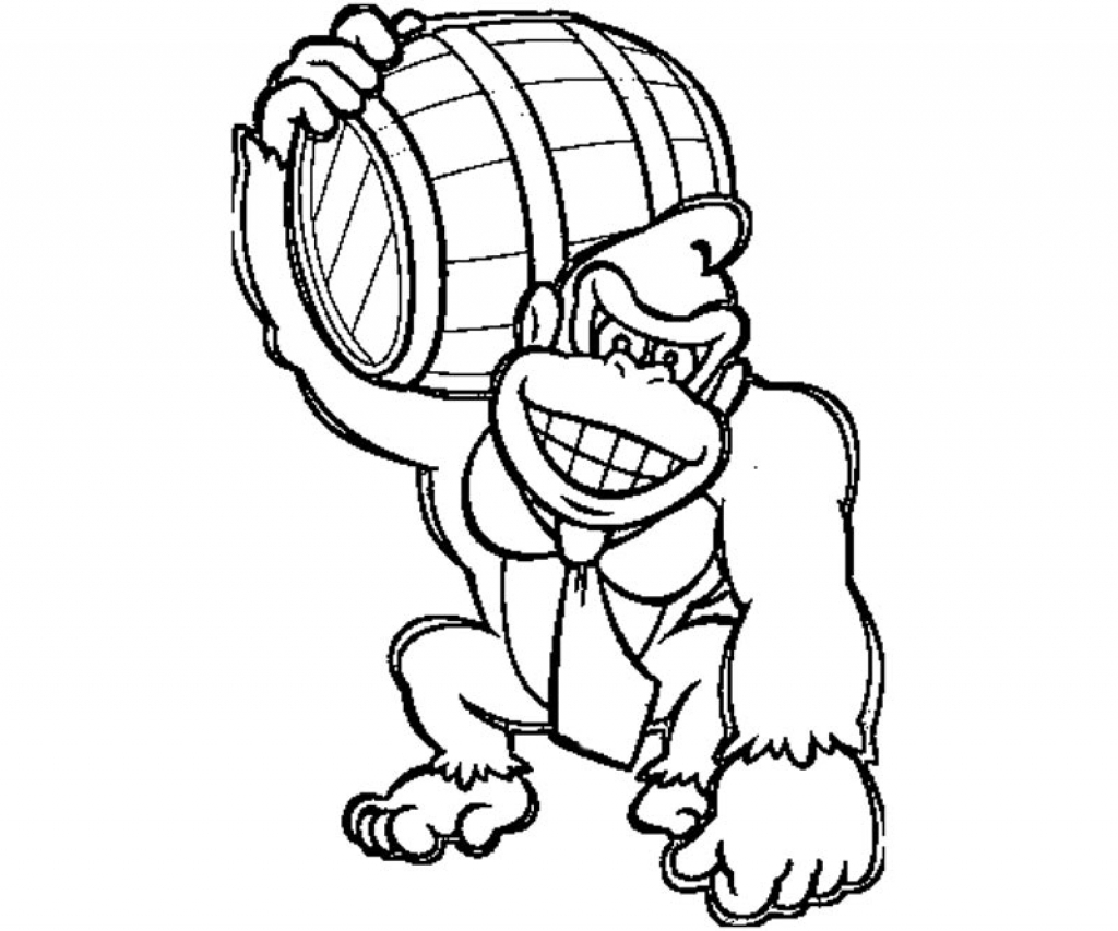 Donkey Kong Drawing at GetDrawings | Free download