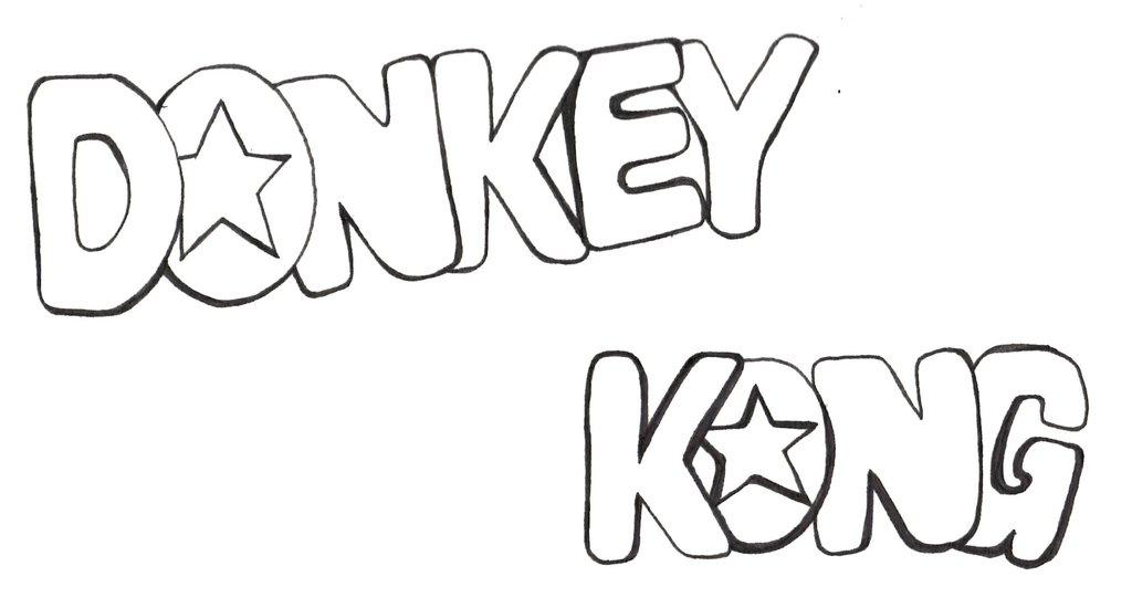 1024x550 Donkey Kong Logo By Brainglitches