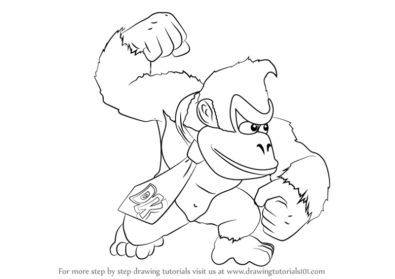 800x566 Learn How To Draw Donkey Kong From Super Smash Bros (Super Smash