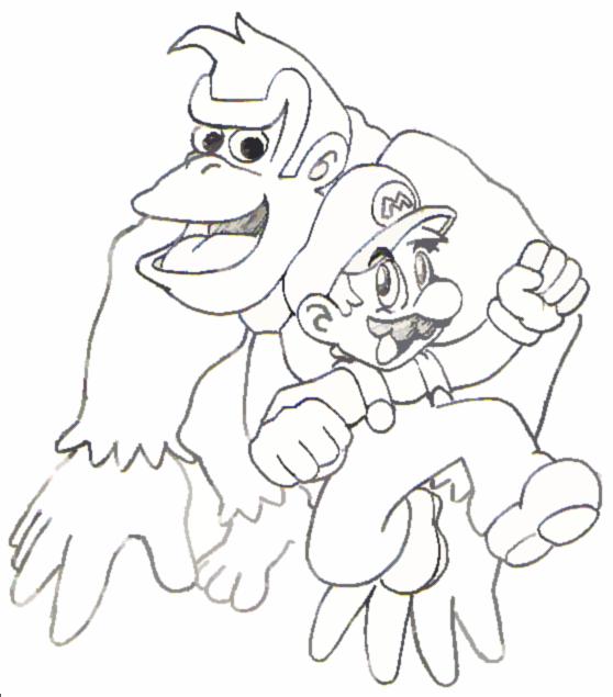 558x635 Mario And Donkey Kong By Koopaul
