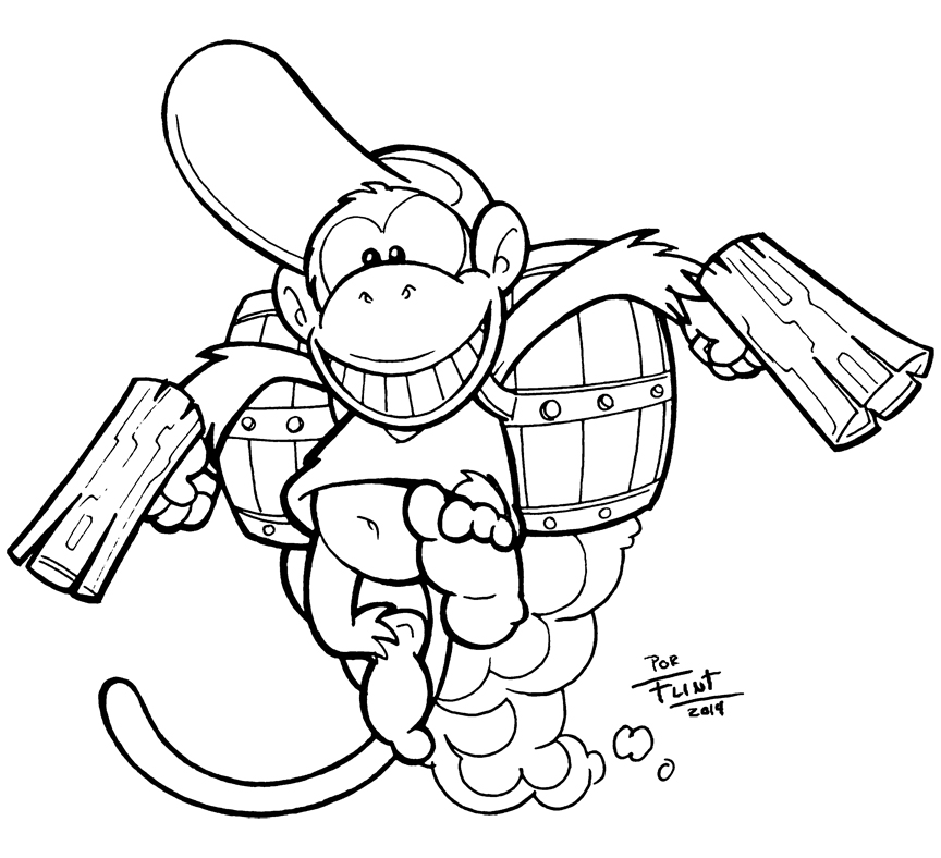 864x788 Diddy Kong By Flintofmother3