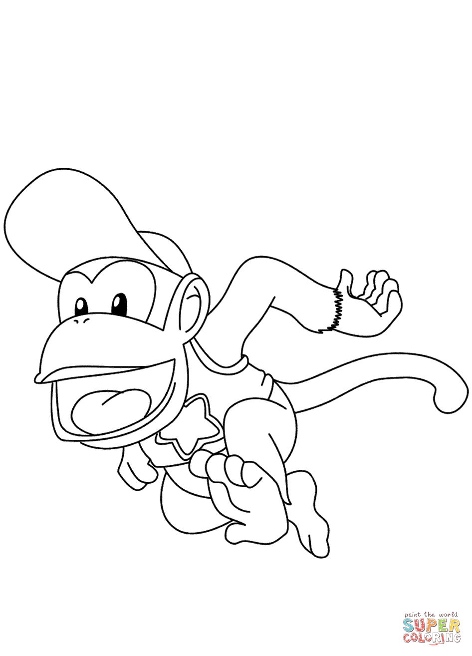 946x1314 Diddy Kong Coloring Page Free Printable Coloring Pages