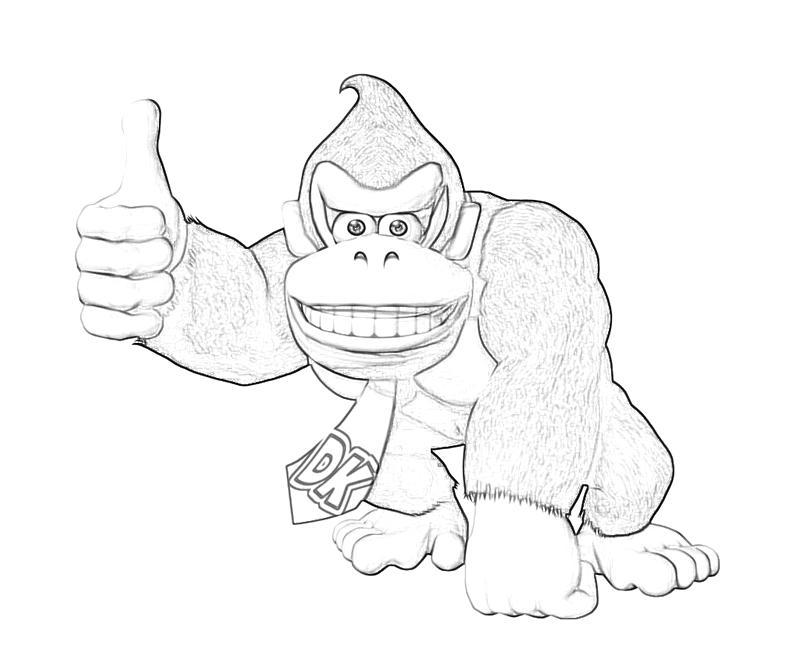 Bonito Burro Kong Para Colorear Páginas Para Imprimir Festooning ...