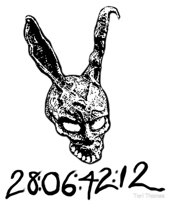 667x800 Donnie Darko Numbers By Tori Thomas Redbubble