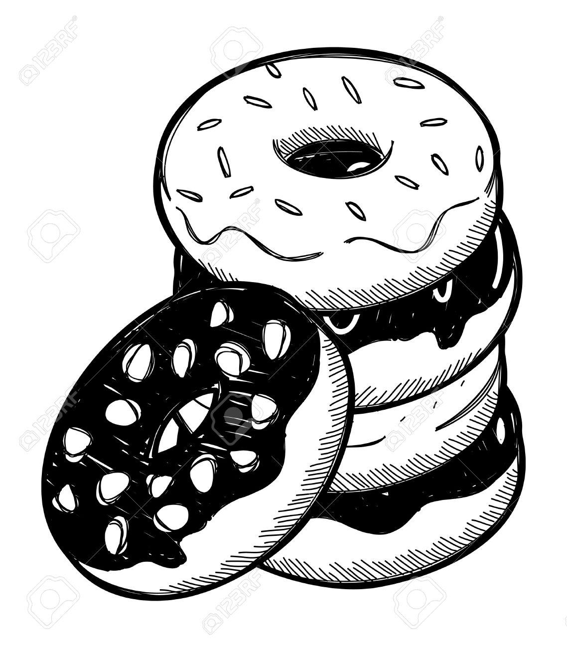 Donut Drawing At GetDrawings