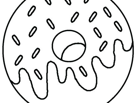 440x330 amazing doughnut coloring page best of donut pages you know loves