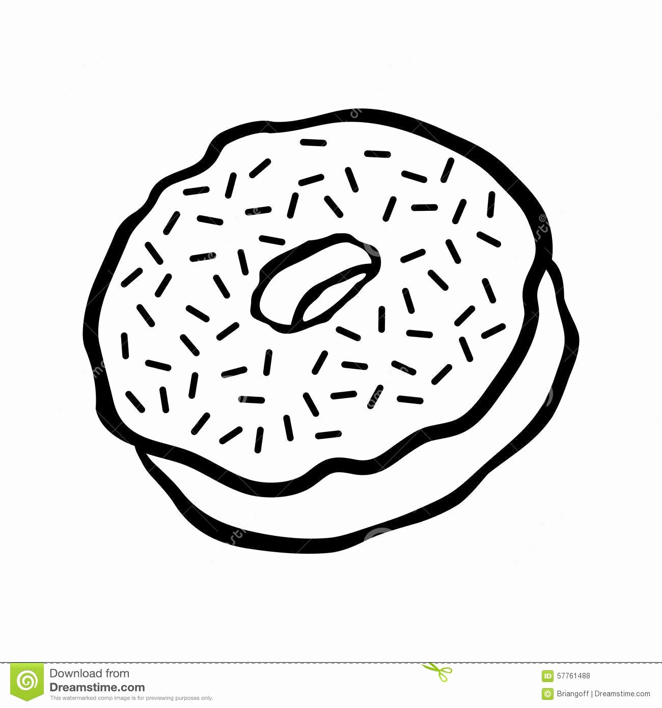 Donut Line Drawing at GetDrawings | Free download
