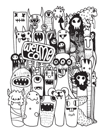 Doodle Art Drawing at GetDrawings.com | Free for personal use Doodle ...