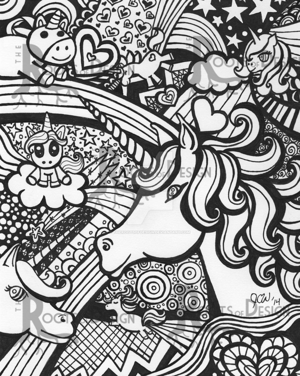 1024x1280 Unicorn Doodle By TheRootsOfDesign On DeviantArt