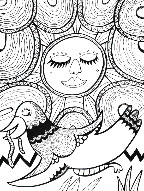600x799 Delightful Doodles Free Downloadable Drawing Patterns