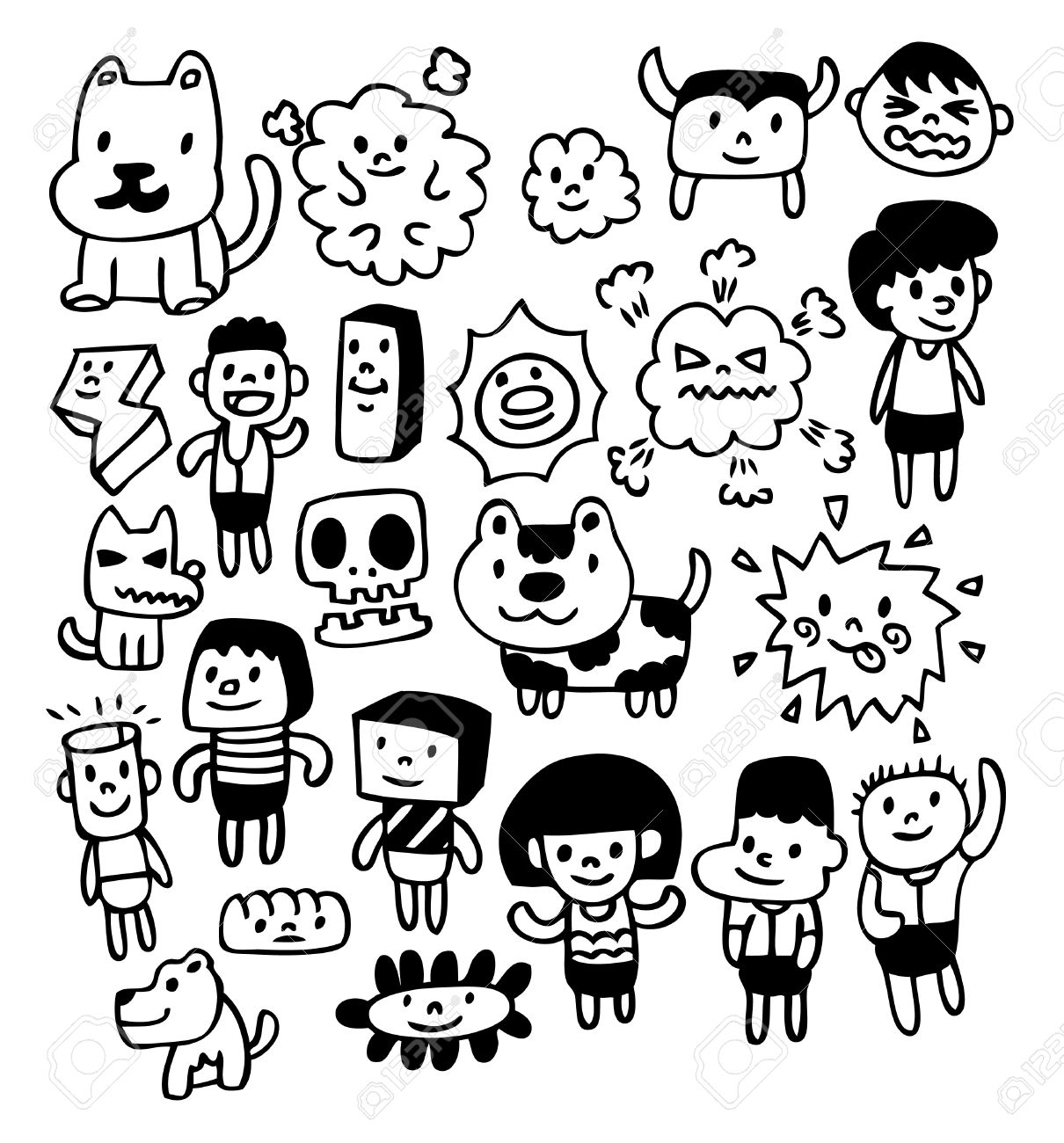 1210x1300 Drawn Cute Doodle