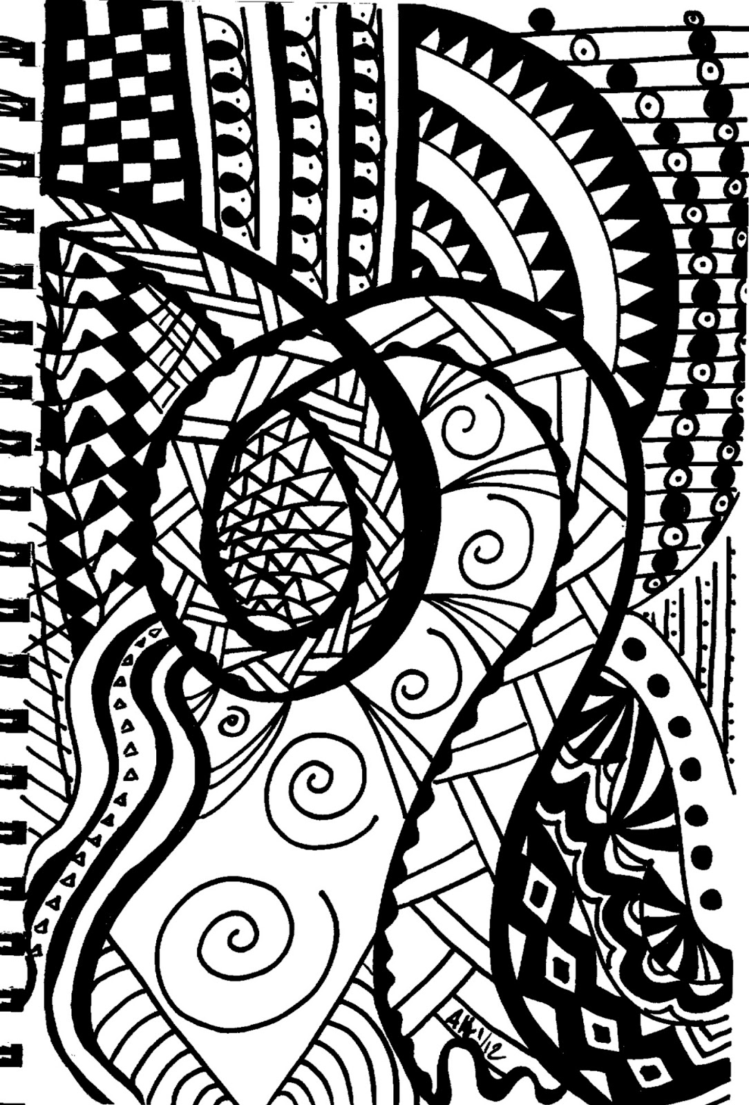 1084x1600 On My Mind New Challenge! Doodle Day May!