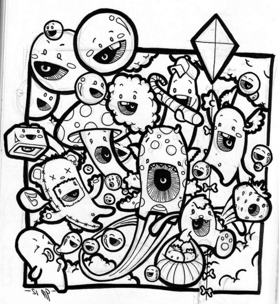 970x1055 Coloring Graffiti Doodle Pics Draw Doodles Tokidoki