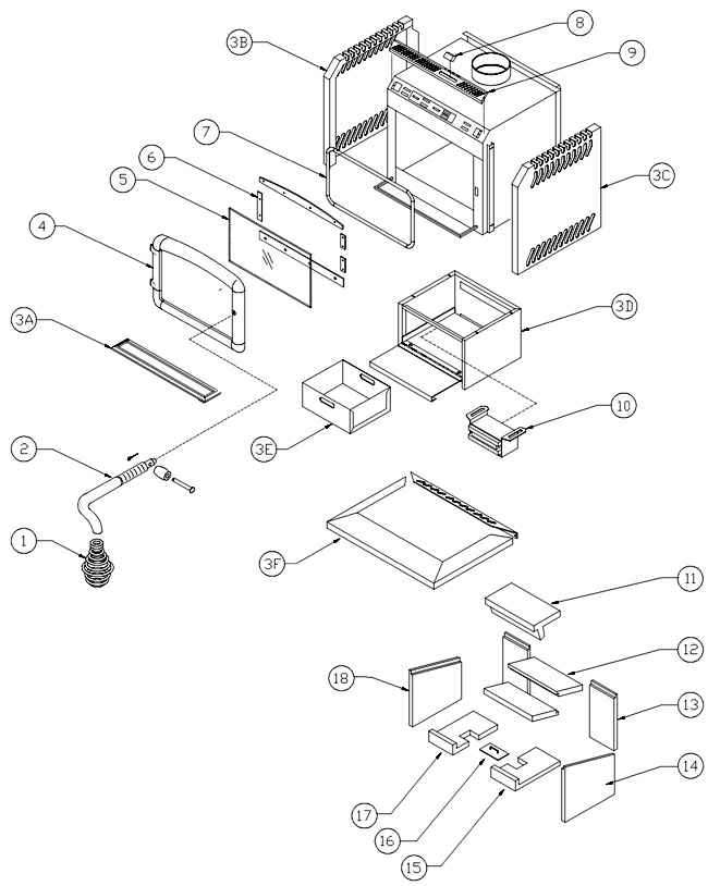 Wood Stove Diagram