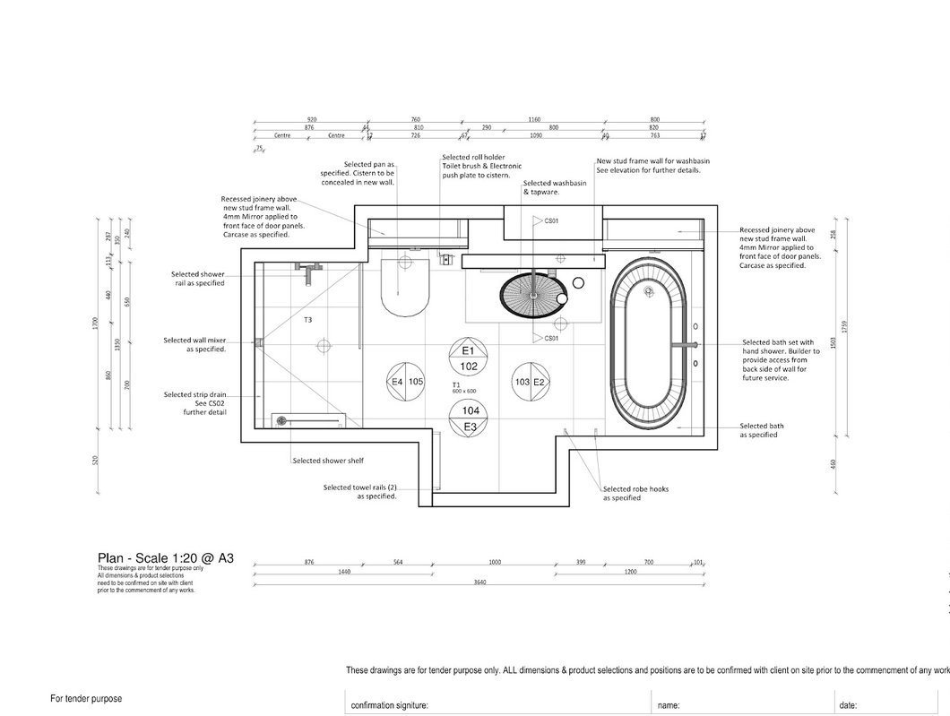1060x799 Residential Bathroom Layout Catapult Design Group