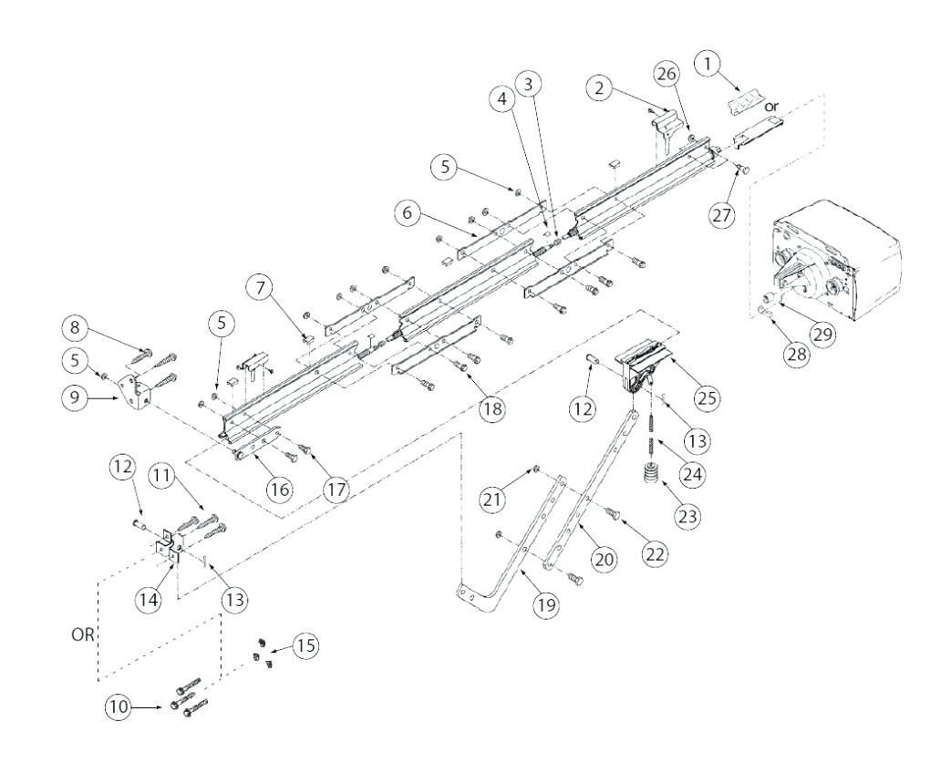 1043x837 Diagram Garage Door Parts Diagram Frame
