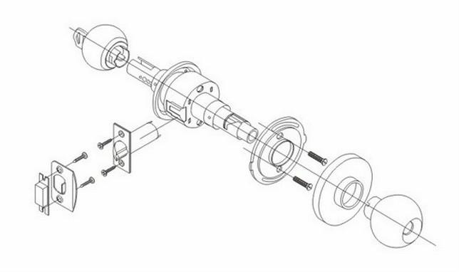 644x382 730 5831 Stainless Steelcylindricalentrance Door Knob Lock