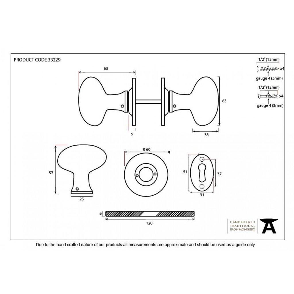 1024x1024 Antique Black Oval Door Knob Rim Lock Door Knobs Anvil 33229