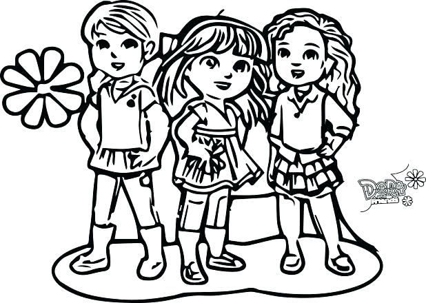 618x440 Dora Free Coloring Pages Explorer Printable