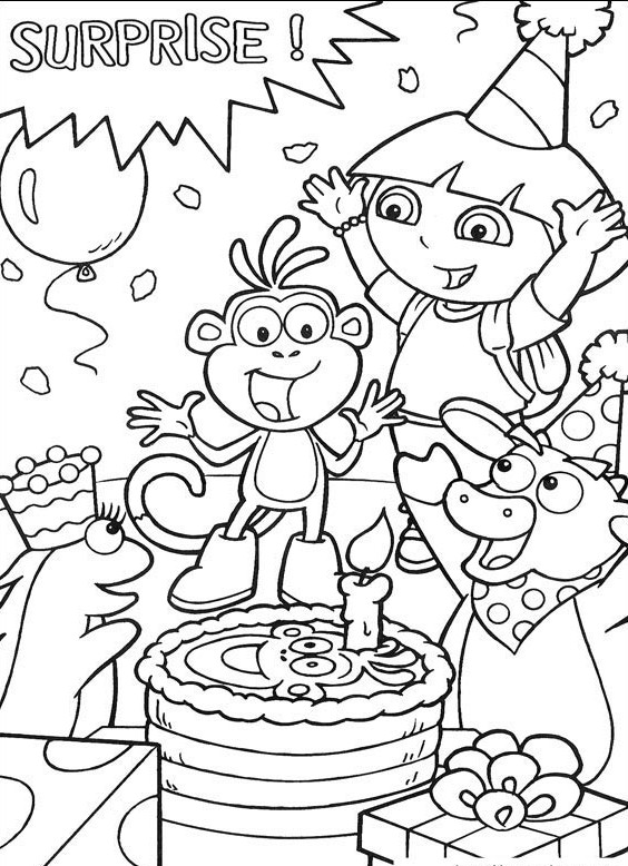564x778 Dora And Friends Coloring Page Dora The Explorer Coloring Pages