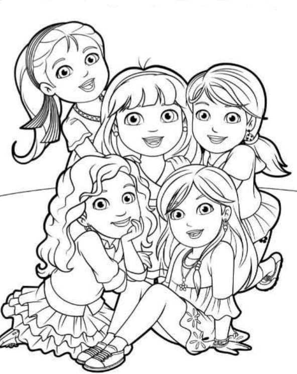 592x745 6 Coloring Pages Of Dora And Friends On Kids N Fun.co.uk. On Kids