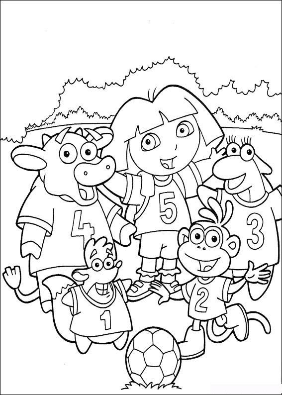 567x794 Kids Under 7 Dora The Explorer Coloring Pages