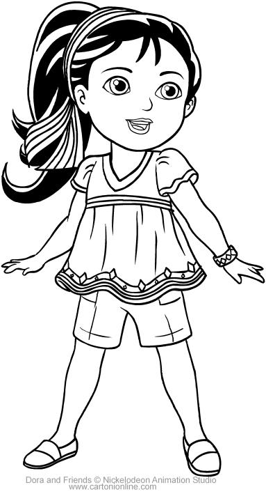 383x709 Naiya Of Dora And Friends Coloring Pages