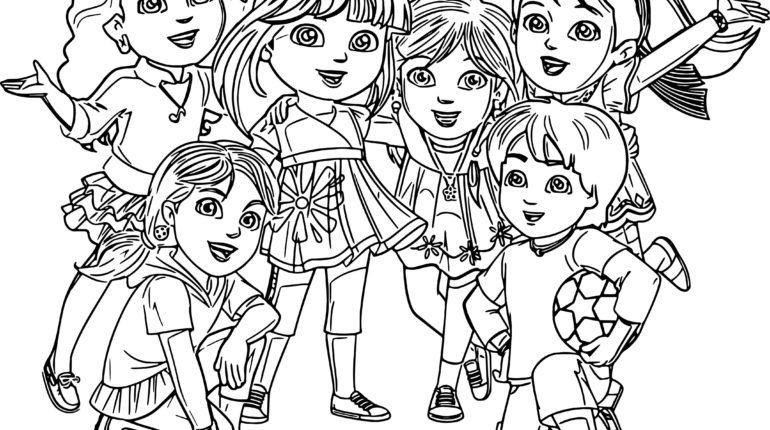 770x430 Dora And Friends Coloring Pages Stunning Dora Coloring Pages