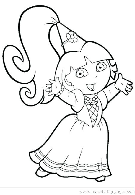 452x650 Dora Free Coloring Pages