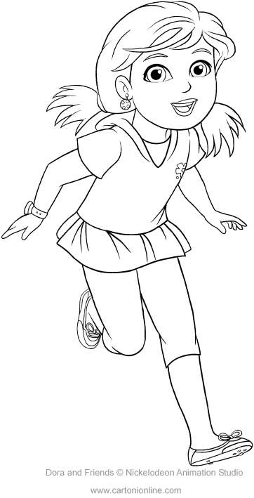 362x709 Alana Of Dora And Friends Coloring Pages