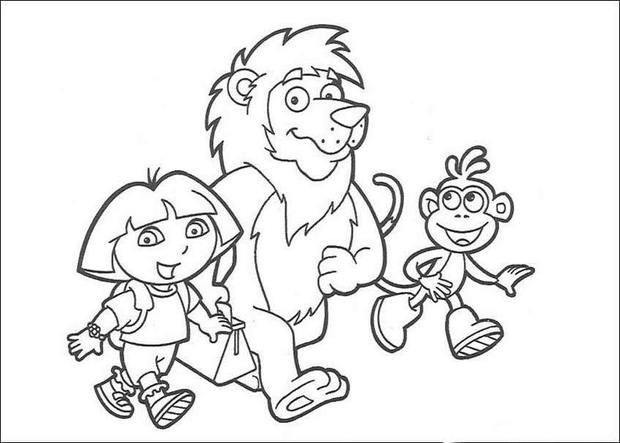 620x443 Dora's Friends Coloring Pages