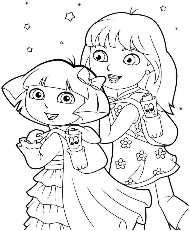 805x977 Dora And Friends Coloring Pages