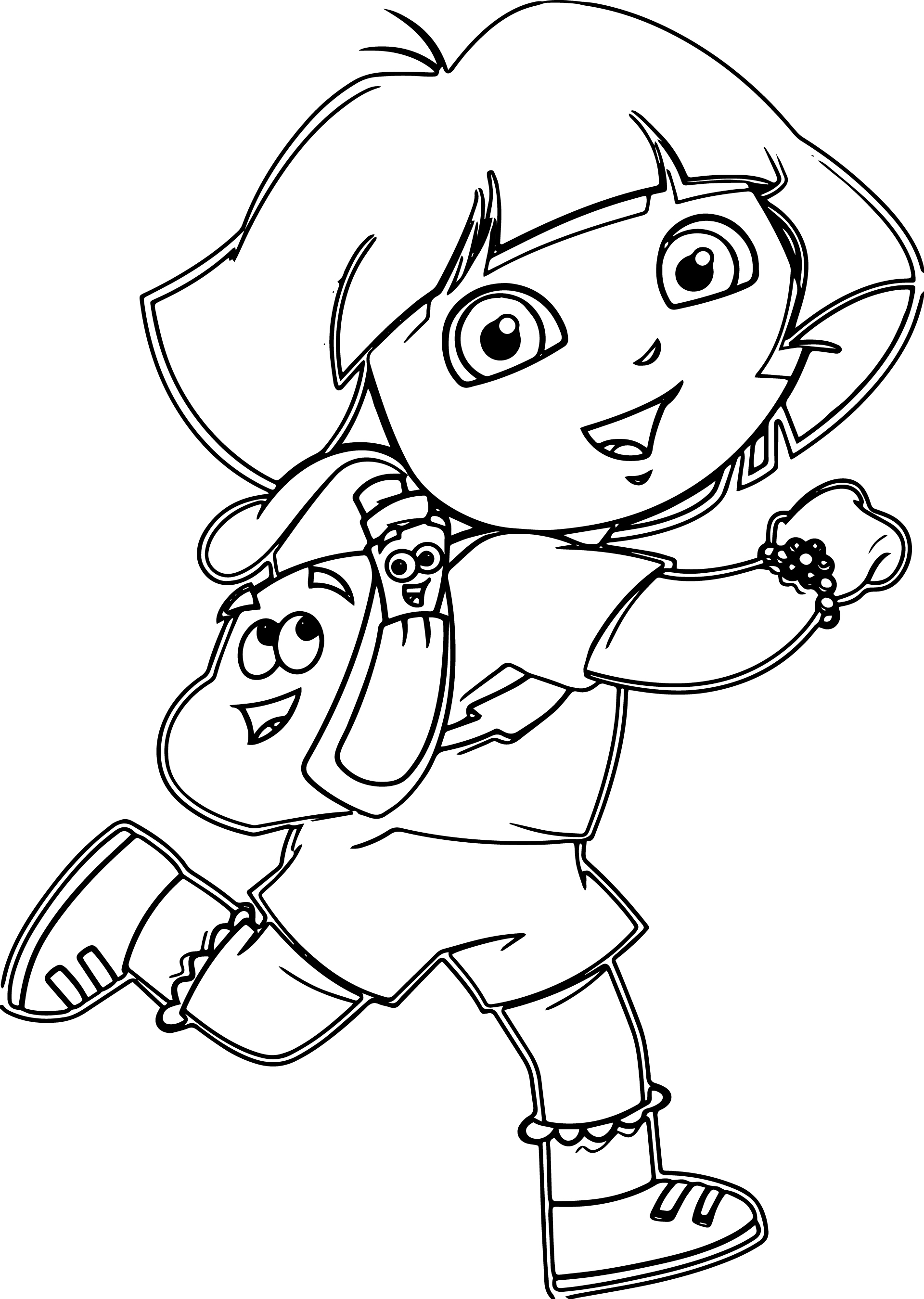 Dora Drawing at GetDrawings.com | Free for personal use Dora Drawing ...
