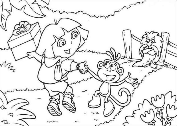 620x443 Dora And Boots Coloring Pages Page