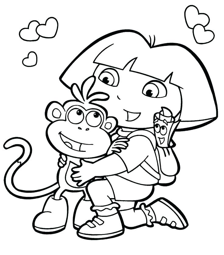 736x838 dora explorer coloring pages the explorer coloring book together