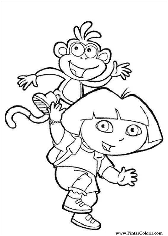 567x794 Drawings To Paint Amp Colour Dora The Explorer
