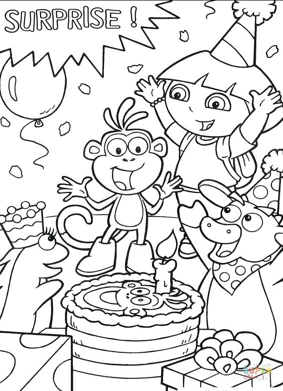 564x778 Dora Explorer Coloring Pages Omnitutor.co