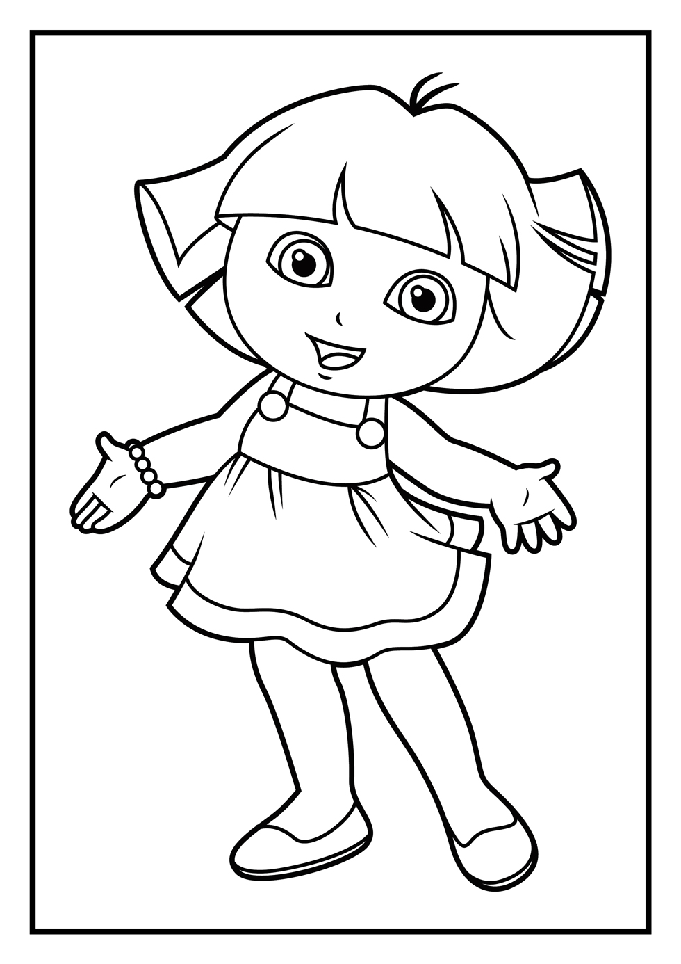 980x1386 Diego And Boots Dora The Explorer Coloring Page Printable To Good