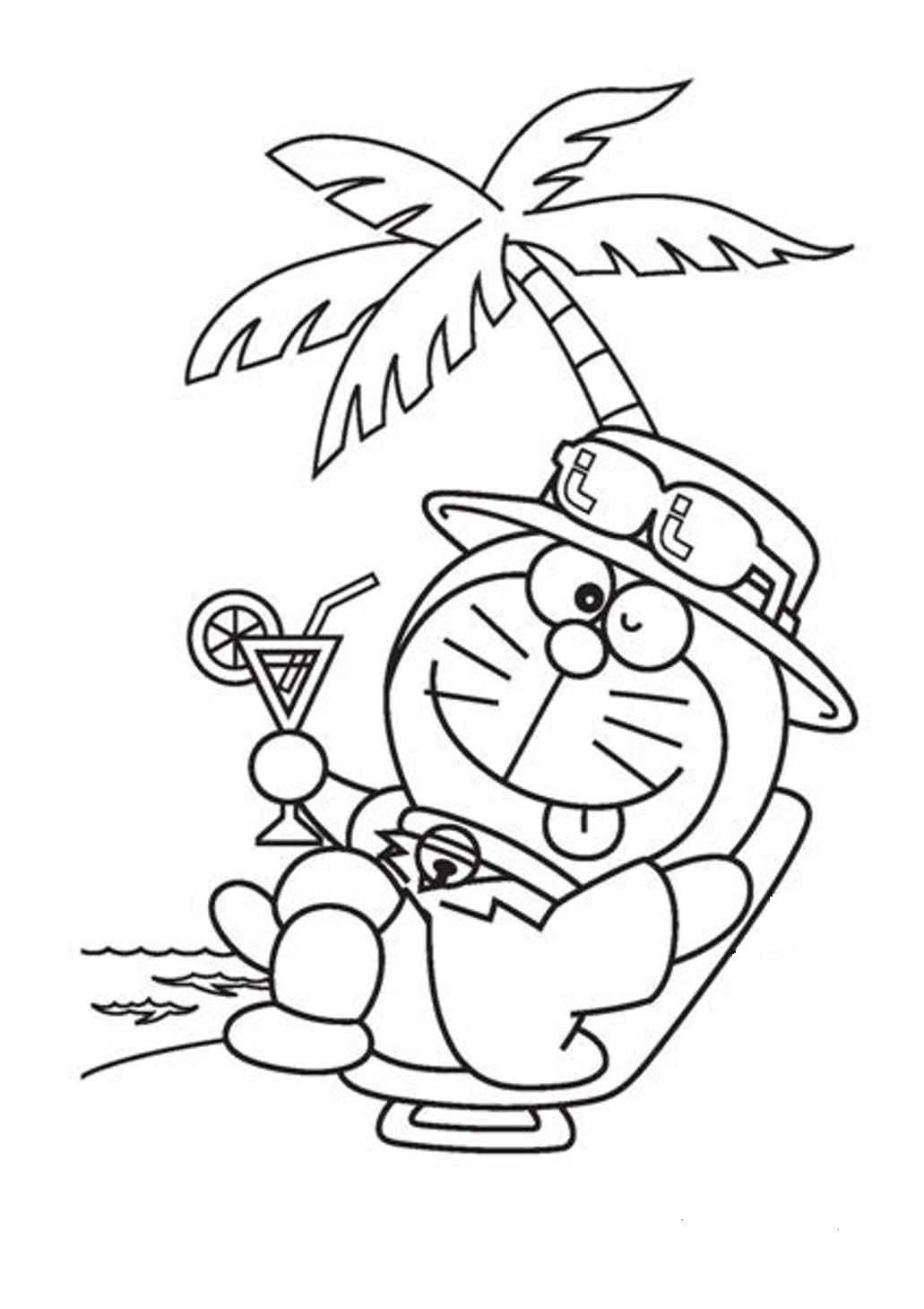 1031x1460 Relaxing Doraemon Cartoon Coloring Pages Page Love