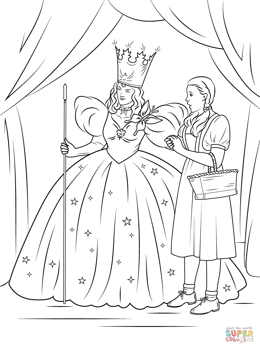 Dorothy drawing at free for personal use for Glinda the good witch crown template